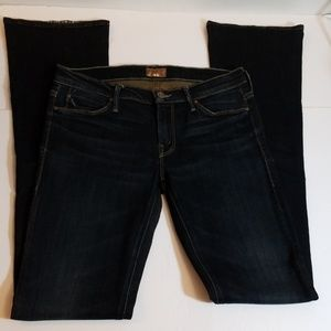MOTHER THE RUNAWAY JADED DARK BLUE FLARED JEANS 28